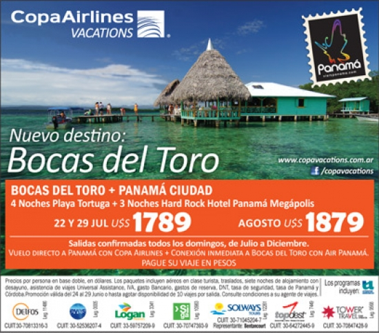 Panama Vacations All Inclusive Packages: Copa Vacations: Bocas Del Toro Panama