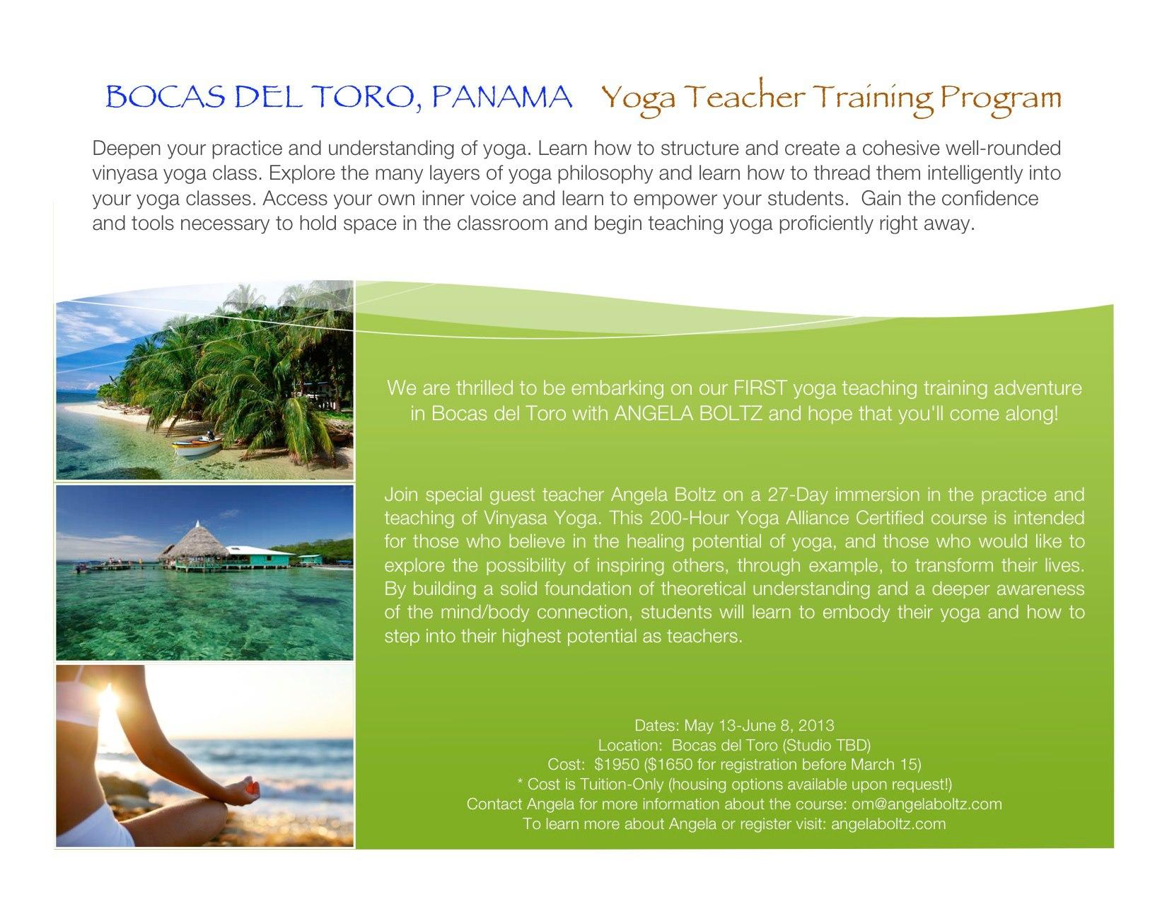 Programa de Entrenamiento para Profesores de Yoga | Bocas del Toro ...