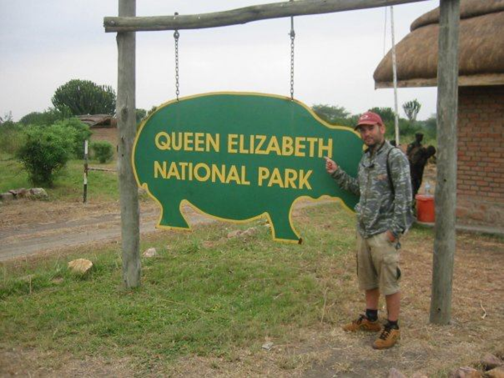 Beltran at the Ugandan Queen Elizabeth National Park