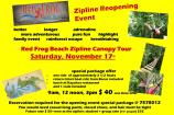 Red Frog Beach Zipline Reopening Event